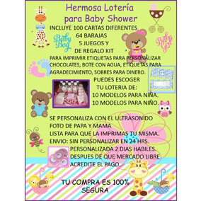 Loteria Baby Shower 100 Cartas Imprimible!