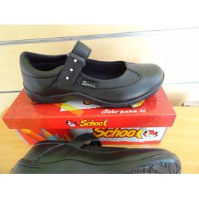 Zapato Escolar Negro Sifrinas Tallas 39 Al 40 Modelo 214