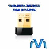 Tarjeta De Red Usb Tp Link Adaptador Nano 50 Mbits Negro