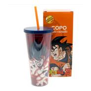 Copo Térmico Para Viagem Simbolo Goku 450ml Dragon Ball