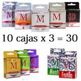 Preservativos M 10 Cajas X3 =30 Oferta Profilacticos Surtido