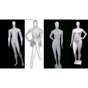 Manequim Kit 4 Manequins Bombado + Sentada + Bonita + Gg
