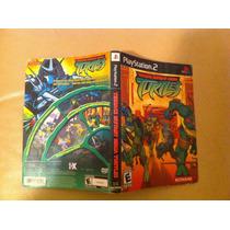 Turtles - Tartarugas Ninjas - Encarte Original Playstation 2