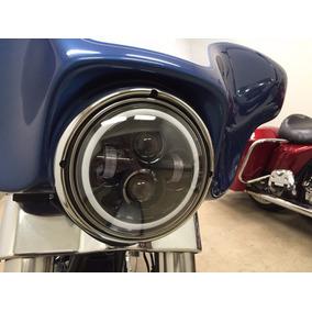 Harley Davidson Farol 7 Led Para Moto 12xsem Juros