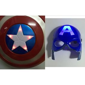 Capitão América Kit Escudo + Máscara
