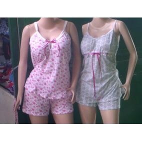 Pijamas De Damas Tipo Short Batas Y Bragas