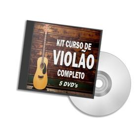 Curso Completo Violão Em Video Aulas - 5 Dvds - Frete Fixo