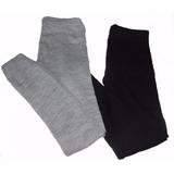 Meia Calça Em Lã Fusô Legging Infantil Térmica Segunda Pele