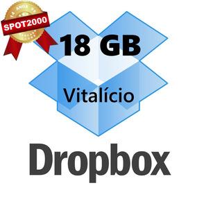 Conta Dropbox 18gb Vitalício, Sem Mensalidade Nem Anuidade
