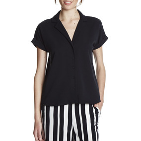 Camisa Manga Corta De Creppe (92%) Yagmour