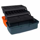 Caja Para Pesca 33 Compartimentos Color Gris 10552