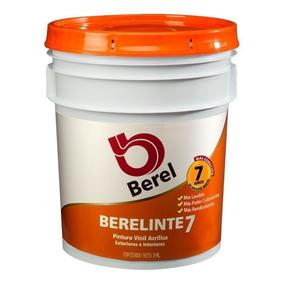 Cubeta 19 L Berelinte 7 Años Naranja 821 Vinílica Lavable