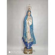 Nossa Senhora De Fátima Em Gesso - 42cm