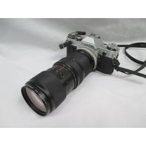 Camera Canon Ae-1 Lente Vivtar 75-205mm