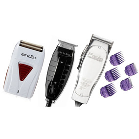 Combo Andis Pro Fade Master, Trimmer Gtx, Profoil + 5 Peines