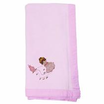 Manta Cobertor Microfibra Bebê Princesa Luxo Bordado