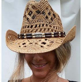 Chapéu Marrom Tipo Palha Cowboy Country Feminino Masculino