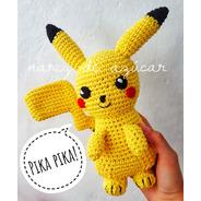 Muñeco Pikachu Crochet - Tienda Nariz De Azúcar Amigurumis