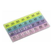 Porta Comprimidos 4 X Dia Semanal Caixa Remédios