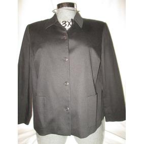 Saco Csual Negro Talla 3x Extragrande Real Cothes