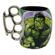 Caneca Soco Inglês Hulk Avengers Marvel Vingadores - 350ml