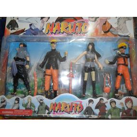 Naruto Cartela 4 Personagens 14 Cm (média) Em Pvc