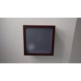 Plafon Sobrepor Quadrado Marrom 20 X 20 Acrílico Jateado