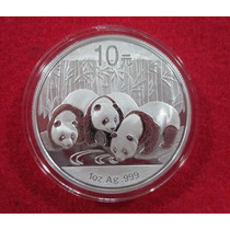 10 Yuan Moneda De Plata Pura Panda 2013 1oz