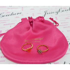 Mca.juicy Couture Set De Anillos Corona Y Corazon #8