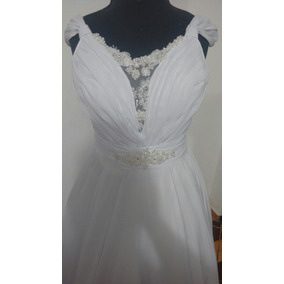 Vestido Noiva Veste Até 42 Lindo Bordado