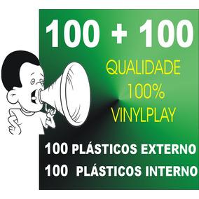 100+100plasticos Externo+interno Para Lp Discovinil + Brinde