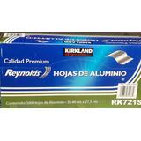 Kirkland Papel Aluminio 500 Hojas 30x27cm Grueso Resistente