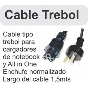 Cable Interlock Trébol Para Fuente Notebook Y Netbook 220v