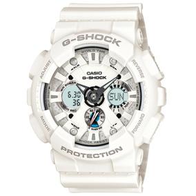 Relógio Casio G-shock Ga-120a-7a Branco Original Importado