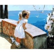 Pintura Numerada A Menina E As Gaivotas