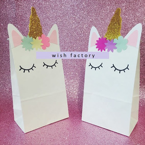 Bolsas Unicornio De Papel Decoradas, Candy Bar, Golosineras