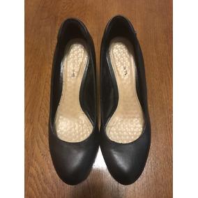 Zapatos De Cuero Negros Hush Puppies De Taco Corrido 38