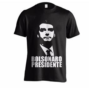 Camiseta Bolsonaro Presidente - Preta - Várias Cores
