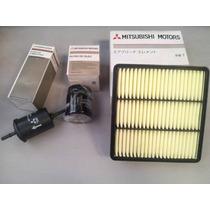 Kit Filtros - Ar Óleo Combustível Mitsubishi Pajero Tr4 Flex