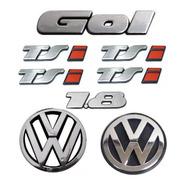 Kit Emblemas Gol Tsi 1.8+ Grade E Mala Com 4x Emblema Tsi
