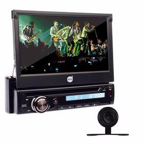 Kit Dvd Automotivo Retratil 7 Bluetooth Câmera Ré Saida Tv