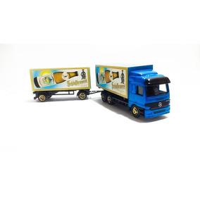 Caminhão Mercedes Actros Romeu E Julieta Azul Escala Ho1:87
