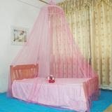 Elegante Cortina Redonda Cama Mosquitero Malla... (pink)