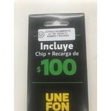Chip Unefon Multiregion Con Recarga De $100 Envio Gratis