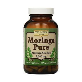 Sólo Moringa Natural Puro - 1000 Mg - 90 Cápsulas Vegetales