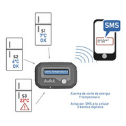 Avisador Corte De Energia Y Temperatura 3 Equipos Gsm X Sms
