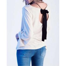 Sweater Fino Con Moño En Espalda Mujer