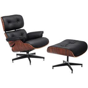 Poltrona Charles Eames Com Puff Couro Pu Promoção Desing