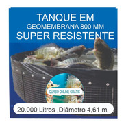 Kit Tanque 20.000l,geomembrana,testes, Fertilizantes E Curso