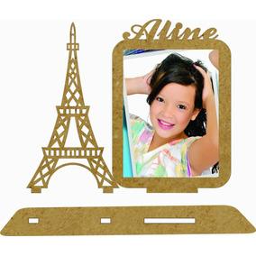 20 Porta Retrato Torre Eiffel Mdf Com Nome Festa 15 Anos R18